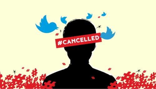 persona cancelada en twitter